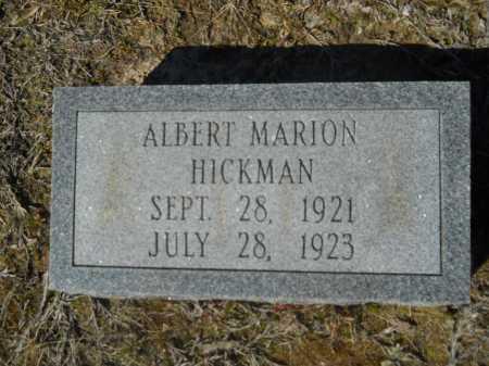 HICKMAN, ALBERT MARION - Columbia County, Arkansas | ALBERT MARION HICKMAN - Arkansas Gravestone Photos