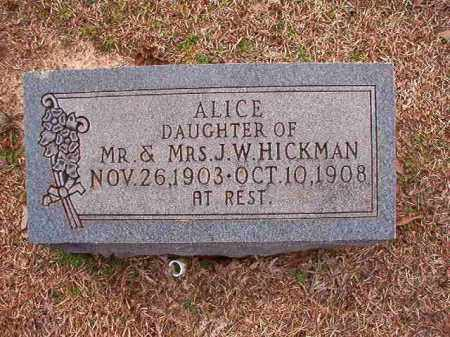 HICKMAN, ALICE - Columbia County, Arkansas | ALICE HICKMAN - Arkansas Gravestone Photos