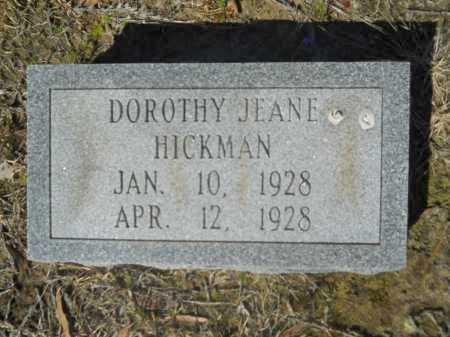 HICKMAN, DOROTHY JEANE - Columbia County, Arkansas   DOROTHY JEANE HICKMAN - Arkansas Gravestone Photos