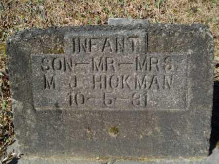 HICKMAN, INFANT - Columbia County, Arkansas | INFANT HICKMAN - Arkansas Gravestone Photos