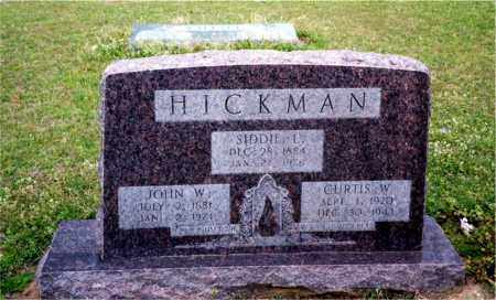 HICKMAN, CURTIS W. - Columbia County, Arkansas   CURTIS W. HICKMAN - Arkansas Gravestone Photos