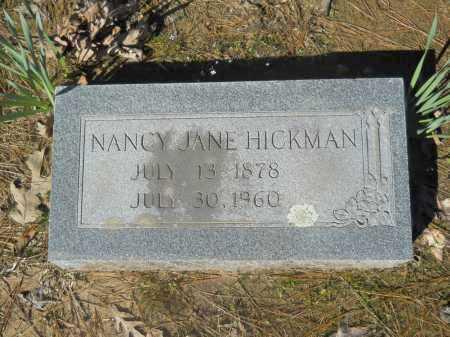 HICKMAN, NANCY JANE - Columbia County, Arkansas | NANCY JANE HICKMAN - Arkansas Gravestone Photos