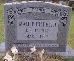 HILDRETH, MALLIE - Columbia County, Arkansas   MALLIE HILDRETH - Arkansas Gravestone Photos