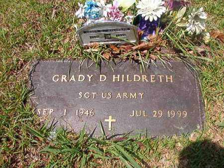 HILDRETH (VETERAN), GRADY D - Columbia County, Arkansas | GRADY D HILDRETH (VETERAN) - Arkansas Gravestone Photos