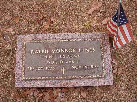HINES (VETERAN WWII), RALPH MONROE - Columbia County, Arkansas | RALPH MONROE HINES (VETERAN WWII) - Arkansas Gravestone Photos