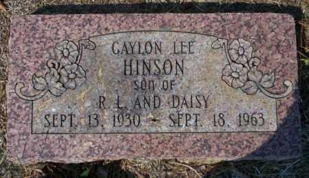 HINSON, GAYLON LEE - Columbia County, Arkansas | GAYLON LEE HINSON - Arkansas Gravestone Photos