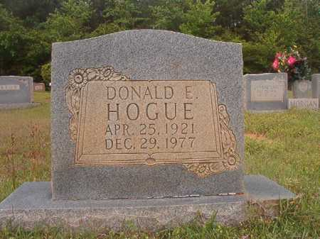HOGUE, DONALD E - Columbia County, Arkansas | DONALD E HOGUE - Arkansas Gravestone Photos