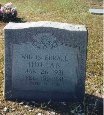 HOLLAN, WILLIS ERRALL - Columbia County, Arkansas | WILLIS ERRALL HOLLAN - Arkansas Gravestone Photos