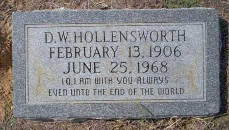 HOLLENSWORTH, D.W. - Columbia County, Arkansas   D.W. HOLLENSWORTH - Arkansas Gravestone Photos