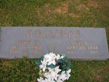 HOLLINDE, DELLA L - Columbia County, Arkansas | DELLA L HOLLINDE - Arkansas Gravestone Photos