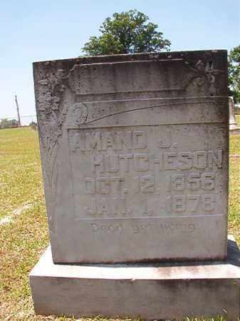 HUTCHESON, AMAND J - Columbia County, Arkansas | AMAND J HUTCHESON - Arkansas Gravestone Photos