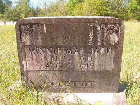 JACK, MINNIE MAE - Columbia County, Arkansas   MINNIE MAE JACK - Arkansas Gravestone Photos