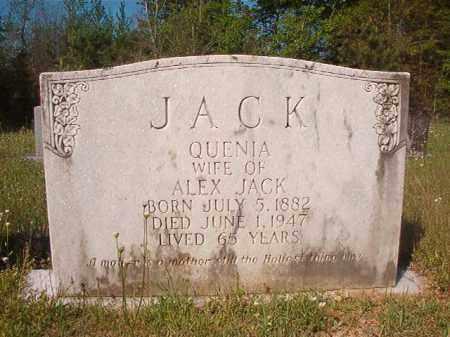 JACK, QUENIA - Columbia County, Arkansas   QUENIA JACK - Arkansas Gravestone Photos