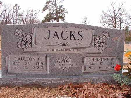 JACKS, DAULTON C - Columbia County, Arkansas   DAULTON C JACKS - Arkansas Gravestone Photos
