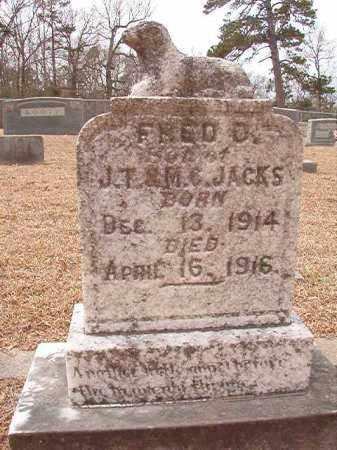 JACKS, FRED D - Columbia County, Arkansas   FRED D JACKS - Arkansas Gravestone Photos
