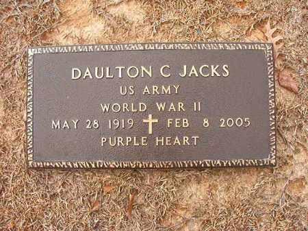 JACKS (VETERAN WWII), DAULTON C - Columbia County, Arkansas | DAULTON C JACKS (VETERAN WWII) - Arkansas Gravestone Photos
