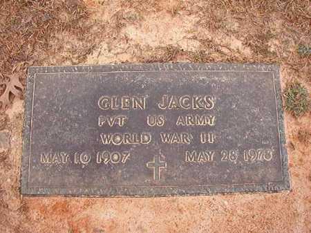 JACKS (VETERAN WWII), GLEN - Columbia County, Arkansas | GLEN JACKS (VETERAN WWII) - Arkansas Gravestone Photos