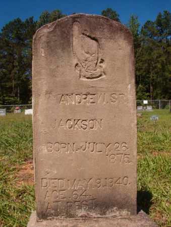 JACKSON, SR, ANDREW - Columbia County, Arkansas   ANDREW JACKSON, SR - Arkansas Gravestone Photos