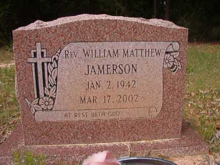 JAMERSON, REV, WILLIAM MATTHEW - Columbia County, Arkansas   WILLIAM MATTHEW JAMERSON, REV - Arkansas Gravestone Photos