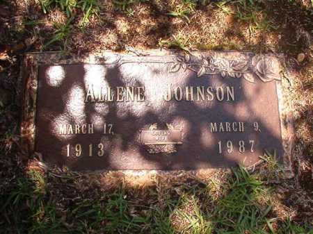 JOHNSON, ALLENE - Columbia County, Arkansas | ALLENE JOHNSON - Arkansas Gravestone Photos