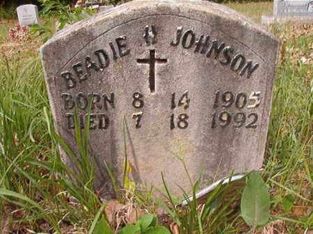 JOHNSON, BEADIE H - Columbia County, Arkansas | BEADIE H JOHNSON - Arkansas Gravestone Photos