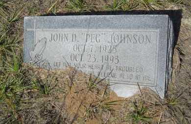 "JOHNSON, JOHN D ""PEG"" - Columbia County, Arkansas | JOHN D ""PEG"" JOHNSON - Arkansas Gravestone Photos"