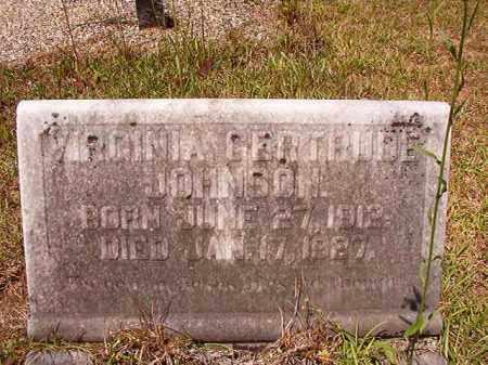 JOHNSON, VIRGINIA GERTRUDE - Columbia County, Arkansas | VIRGINIA GERTRUDE JOHNSON - Arkansas Gravestone Photos