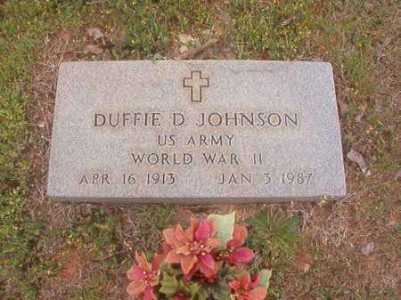 JOHNSON (VETERAN WWII), DUFFIE D - Columbia County, Arkansas | DUFFIE D JOHNSON (VETERAN WWII) - Arkansas Gravestone Photos