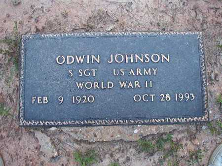 JOHNSON (VETERAN WWII), ODWIN - Columbia County, Arkansas | ODWIN JOHNSON (VETERAN WWII) - Arkansas Gravestone Photos