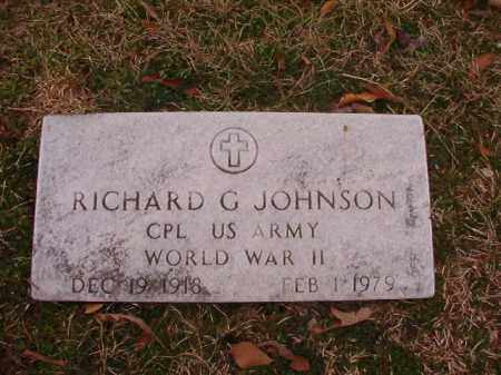 JOHNSON (VETERAN WWII), RICHARD G - Columbia County, Arkansas | RICHARD G JOHNSON (VETERAN WWII) - Arkansas Gravestone Photos