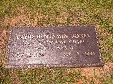 JONES (VETERAN WWII), DAVID BENJAMIN - Columbia County, Arkansas | DAVID BENJAMIN JONES (VETERAN WWII) - Arkansas Gravestone Photos