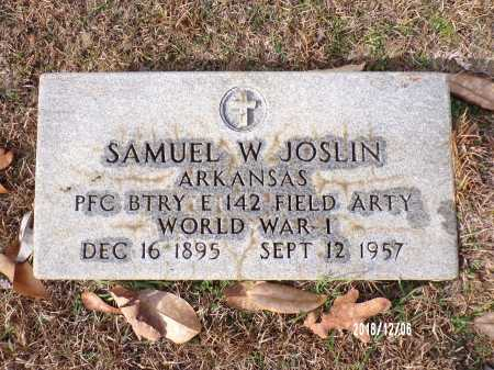 JOSLIN (VETERAN WWI), SAMUEL W - Columbia County, Arkansas | SAMUEL W JOSLIN (VETERAN WWI) - Arkansas Gravestone Photos