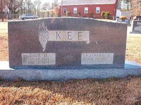 KEE, DAVE M - Columbia County, Arkansas | DAVE M KEE - Arkansas Gravestone Photos
