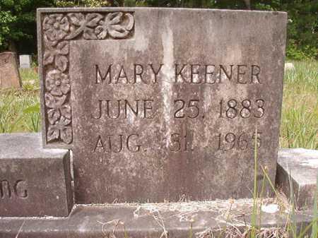 KEENER, MARY - Columbia County, Arkansas | MARY KEENER - Arkansas Gravestone Photos