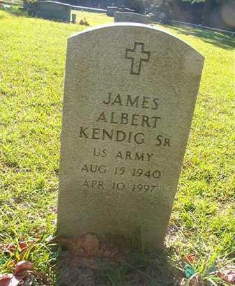 KENDIG, SR (VETERAN), JAMES ALBERT - Columbia County, Arkansas   JAMES ALBERT KENDIG, SR (VETERAN) - Arkansas Gravestone Photos