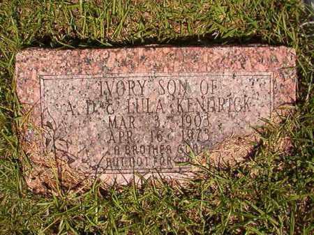 KENDRICK, IVORY - Columbia County, Arkansas | IVORY KENDRICK - Arkansas Gravestone Photos