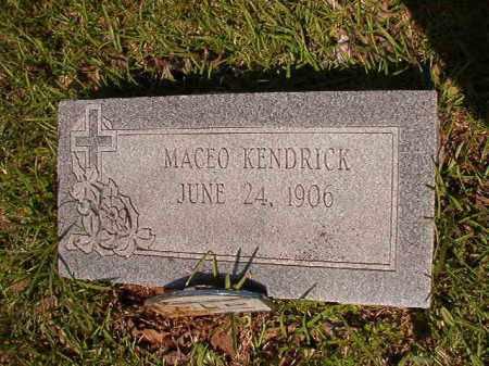 KENDRICK, MACEO - Columbia County, Arkansas   MACEO KENDRICK - Arkansas Gravestone Photos