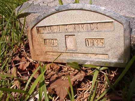 KENDRICK, MACEO - Columbia County, Arkansas | MACEO KENDRICK - Arkansas Gravestone Photos