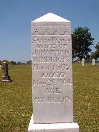 KINDRICK, SARAH - Columbia County, Arkansas | SARAH KINDRICK - Arkansas Gravestone Photos