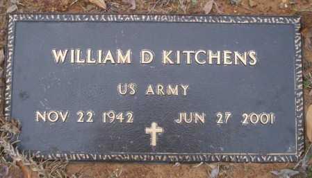 KITCHENS (VETERAN), WILLIAM D - Columbia County, Arkansas | WILLIAM D KITCHENS (VETERAN) - Arkansas Gravestone Photos