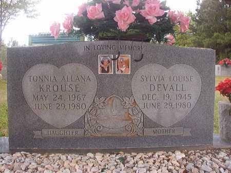 KROUSE, TONNIA ALANA - Columbia County, Arkansas | TONNIA ALANA KROUSE - Arkansas Gravestone Photos