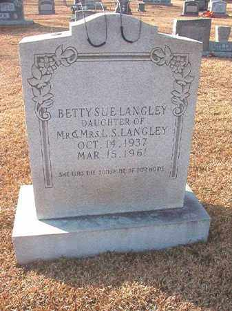 LANGLEY, BETTY SUE - Columbia County, Arkansas | BETTY SUE LANGLEY - Arkansas Gravestone Photos