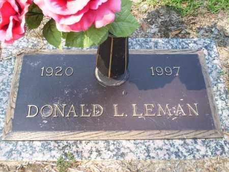 LEMAN, DONALD L - Columbia County, Arkansas | DONALD L LEMAN - Arkansas Gravestone Photos