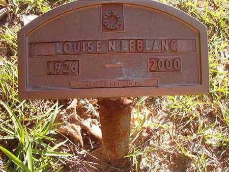 LEBLANC, LOUISE N - Columbia County, Arkansas   LOUISE N LEBLANC - Arkansas Gravestone Photos