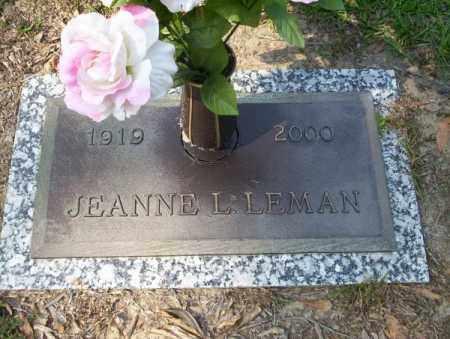 LEMAN, JEANNE L - Columbia County, Arkansas | JEANNE L LEMAN - Arkansas Gravestone Photos