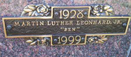 LEONHARD JR., MARTIN LUTHER - Columbia County, Arkansas | MARTIN LUTHER LEONHARD JR. - Arkansas Gravestone Photos