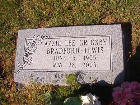 GRIGSBY BRADFORD LEWIS, AZZIE LEE - Columbia County, Arkansas | AZZIE LEE GRIGSBY BRADFORD LEWIS - Arkansas Gravestone Photos