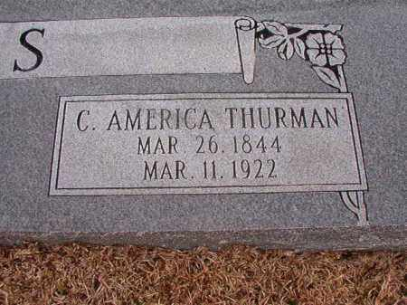 THURMAN LEWIS, C AMERICA - Columbia County, Arkansas | C AMERICA THURMAN LEWIS - Arkansas Gravestone Photos