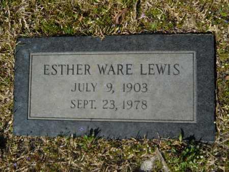 WARE LEWIS, ESTHER - Columbia County, Arkansas   ESTHER WARE LEWIS - Arkansas Gravestone Photos