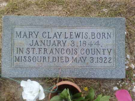 CLAY LEWIS, MARY - Columbia County, Arkansas | MARY CLAY LEWIS - Arkansas Gravestone Photos